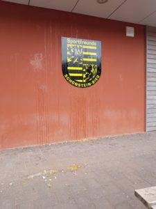 Vandalismus am Vereinsheim